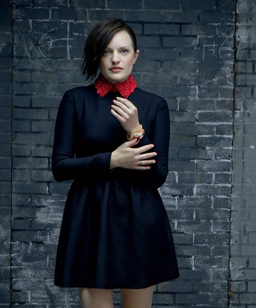 Elizabeth Moss medium shag haircut