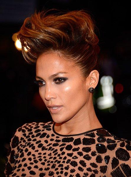 Jennifer Lopez Mohawk updo