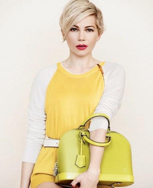 Michelle Williams short hairstyle for fine hair