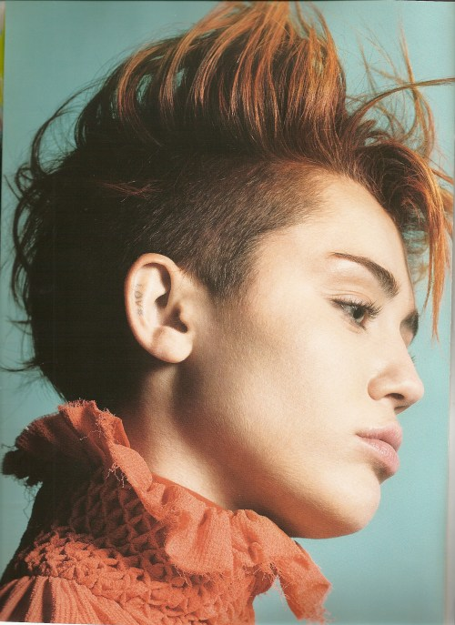 Miley Cyrus short Mohawk hairstyle