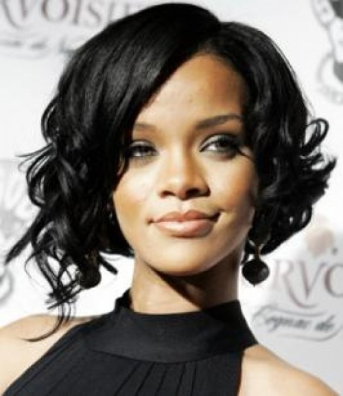 Black Curly Bob Hairstyles 2014 images