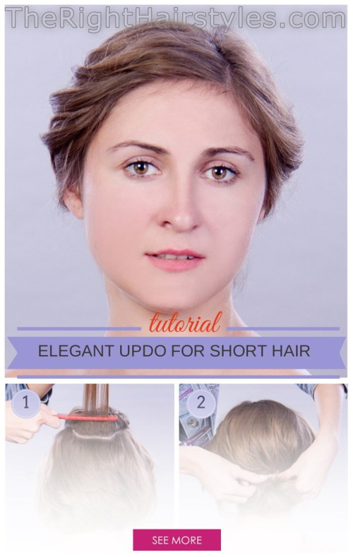 Elegant Updo For Short Fine Hair