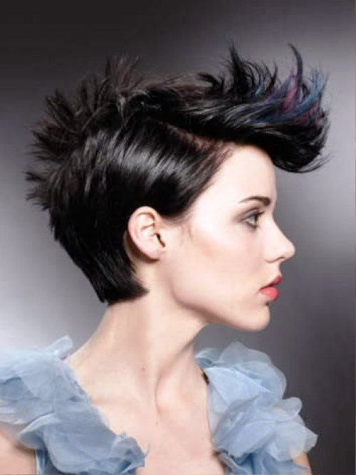 short punk hairstyles rock