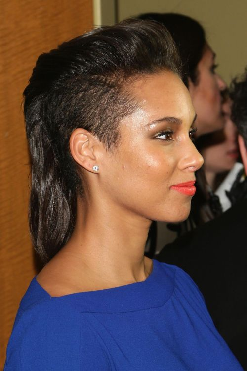 Alicia Keys long Mohawk with undercuts