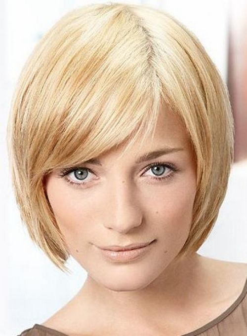 Cute bob with a soft fringe