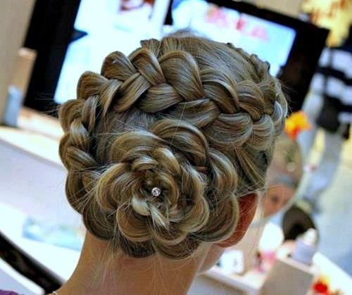 prom braided updo