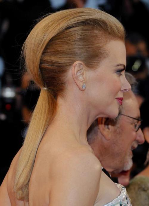 Nicole Kidman pony with a bouffant
