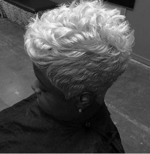 short tapered haircut for women over 50