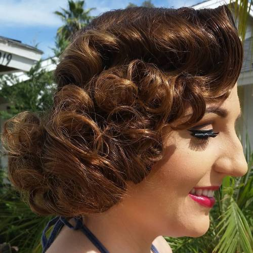 Vintage Curly Bob Hairstyle