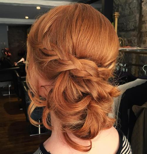 Braid And Messy Chignon Updo