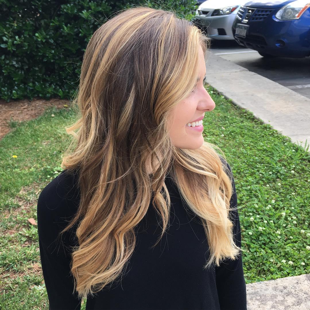 Blonde Face-Framing Highlights Brown Hair
