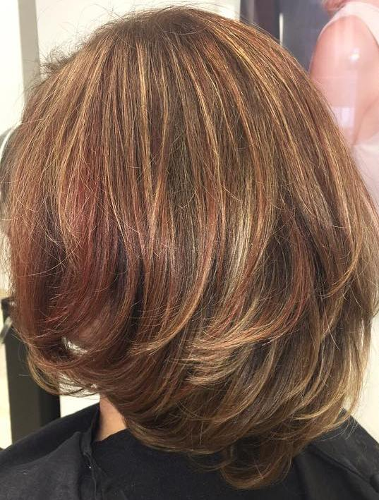 Red Highlights For Light Brown Hair Hairs Picture Gallery