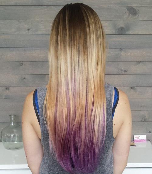 Pastel Purple Peekaboo Ombre