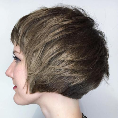 Short Feathered Bob