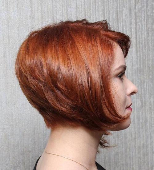 Side-Parted Short Layered Bob