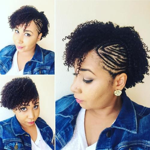 Braided Side Undercut For Natural Hair