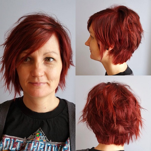 Choppy Short Haircut For Women Over 40