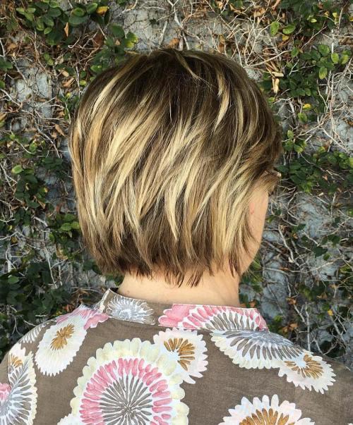 Short Blonde Balayage Hairstyle
