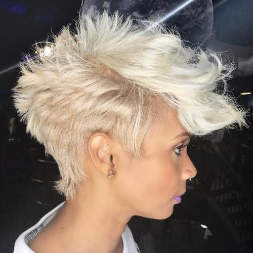 Choppy Blonde Pixie
