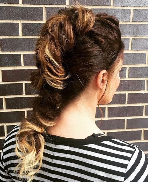 fauxhawk updo for ombre hair