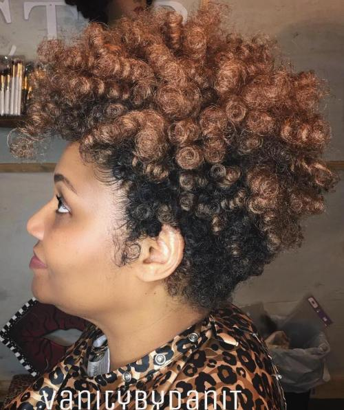 Two-Tone Short Natural Hairstyle