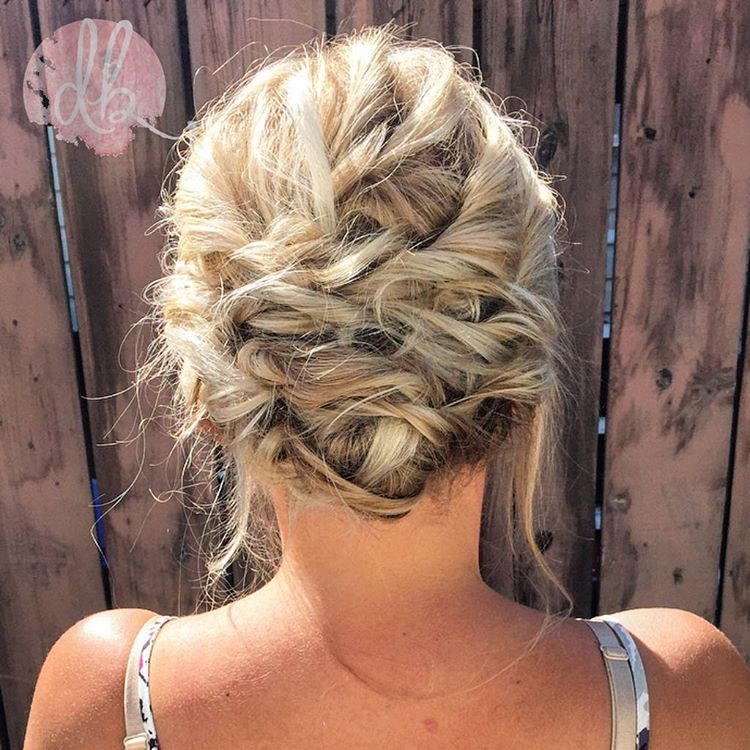 Messy Updo For Summer