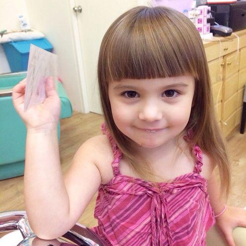how to cut little girls hair short