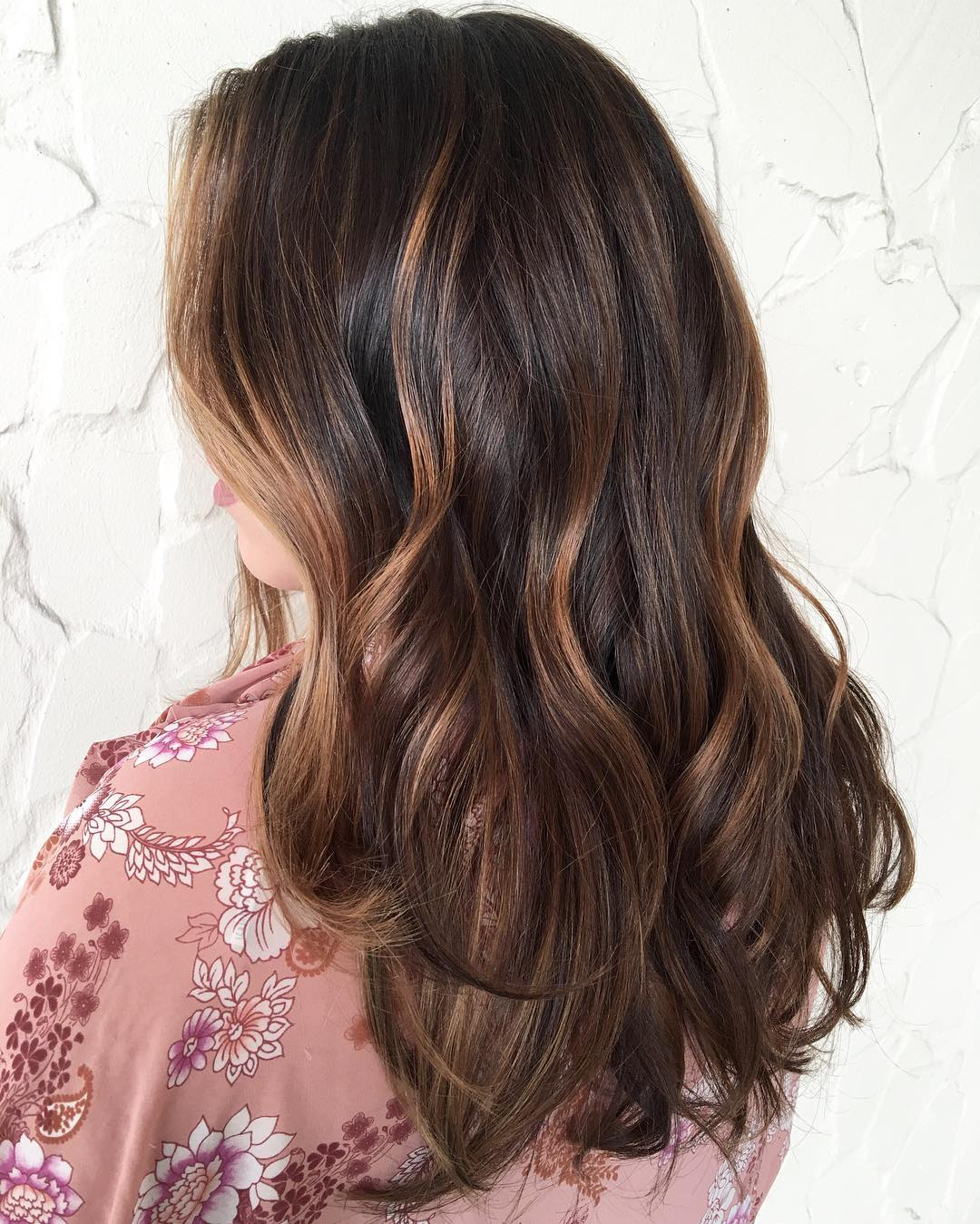 Hair style fashion dark brown hair with caramel highlights pmusecretfo Images
