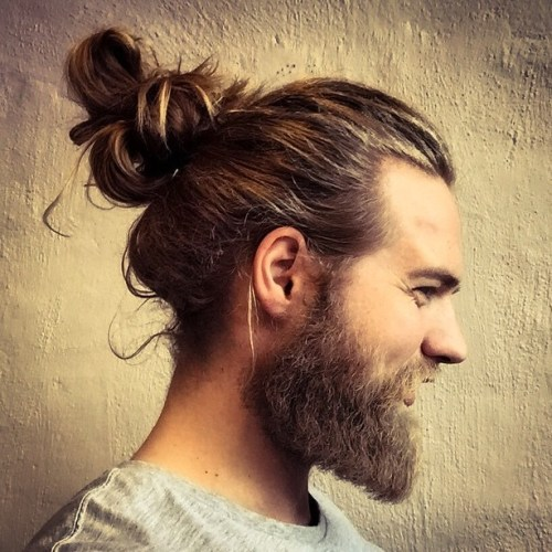 Messy Man Bun With Beard