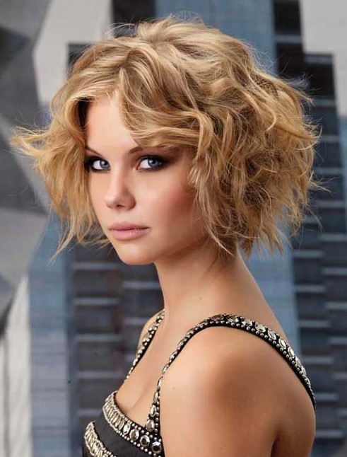 curly tousled hairstyle