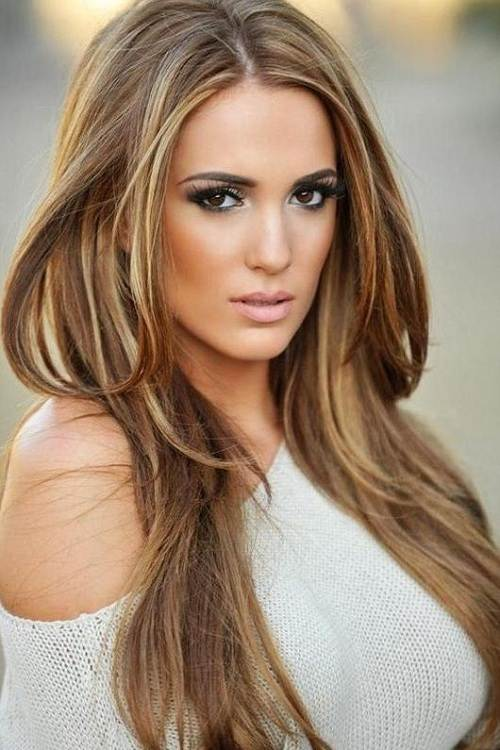 Colored Streaks in Light Brown Hair Idea of Light Brown Hair With
