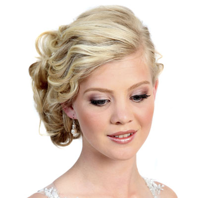 Short hair updos with headbands