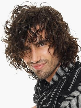 cute curly hairstyle for men