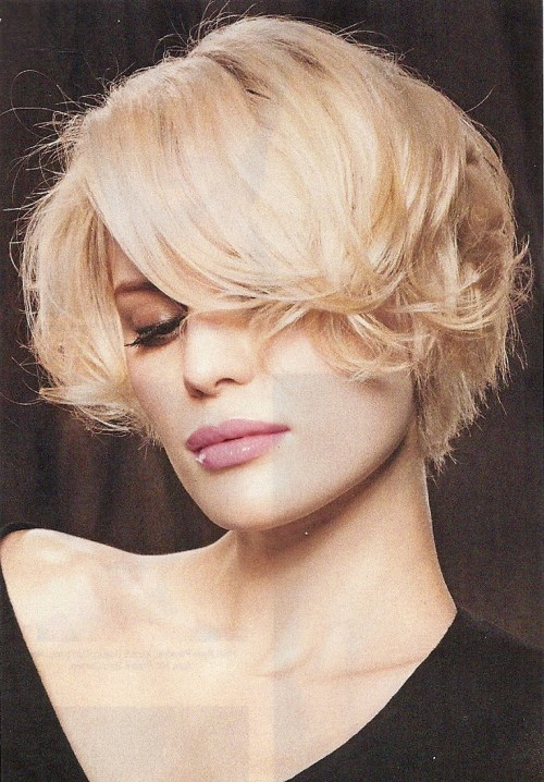 short layered bob with a weave