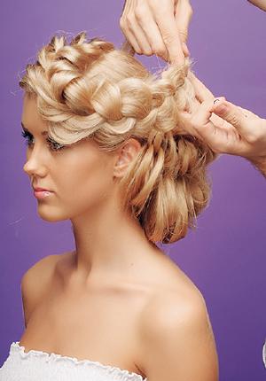 Выпускные прически на длинные волосы на вверх