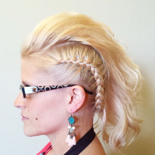 funky braided mohawk for medium thin hair