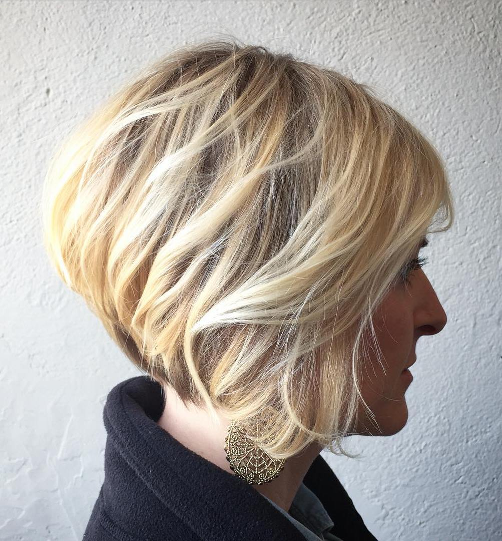 Stacked Tousled Bob