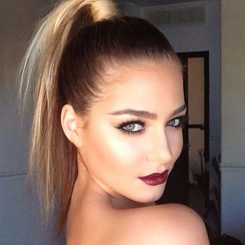 high pony for thin hair