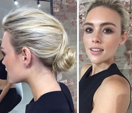 low messy bun for thin hair