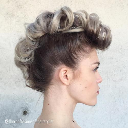 Fauxhawk Updo For Fine Hair