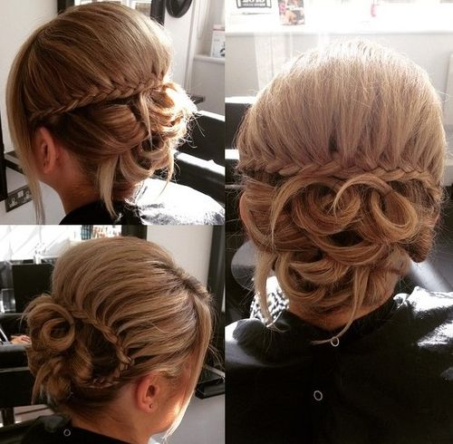 fancy updo for medium hair