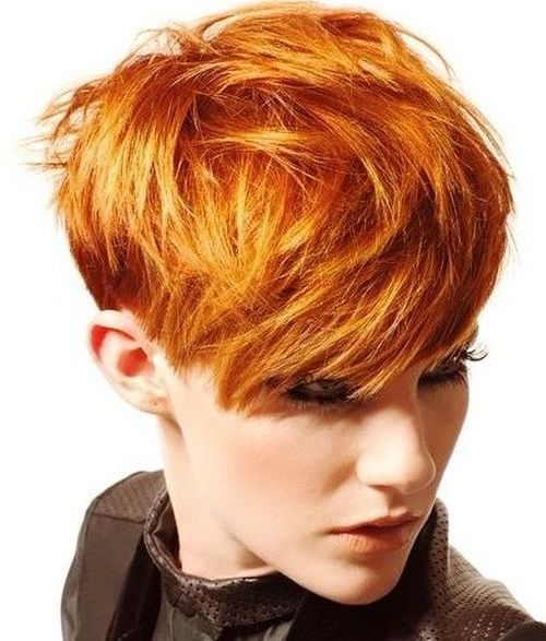 textured red pixie