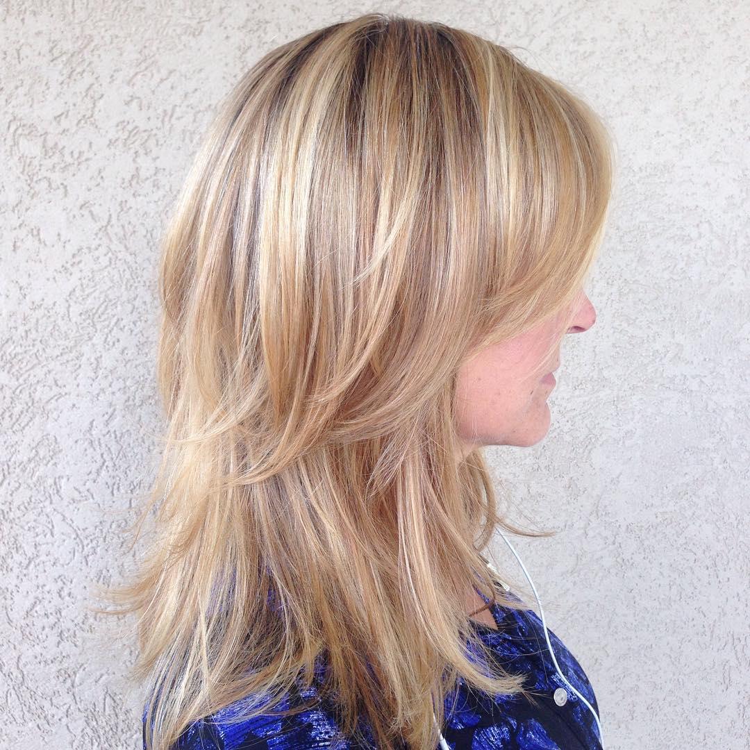 Medium Layered Cut For Thin Hair