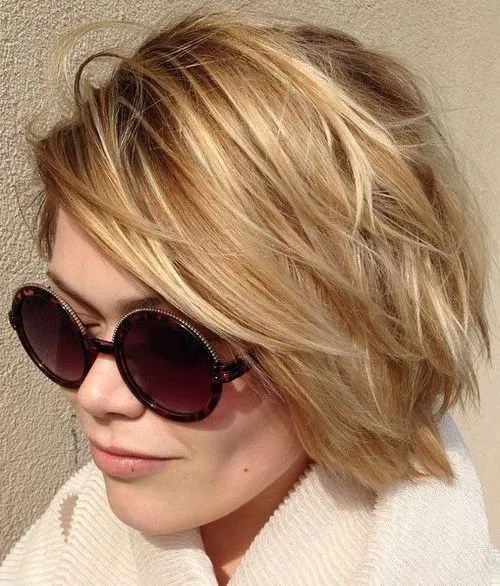 short layered bob for thin hair