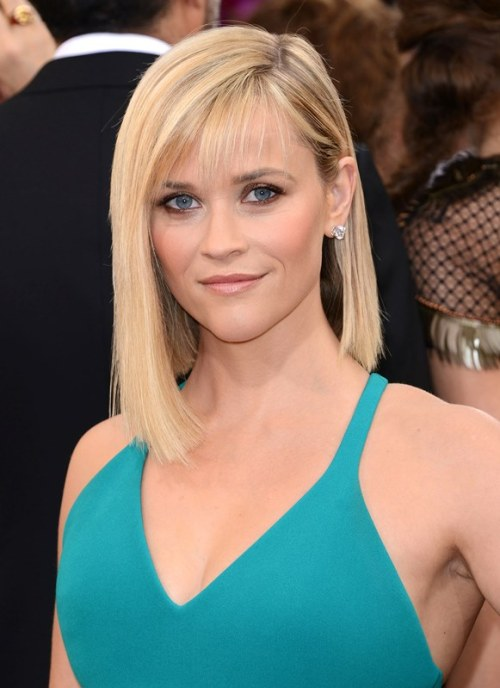 Reese Witherspoon asymmetric bob