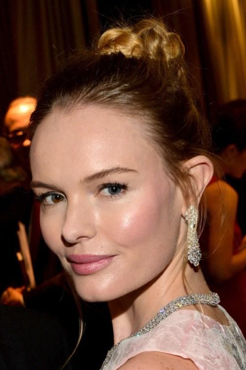 Kate Bosworth braided bun updo