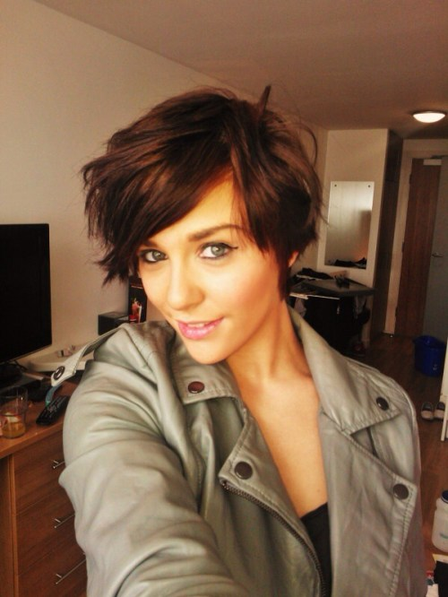 short choppy haircut for thin hair