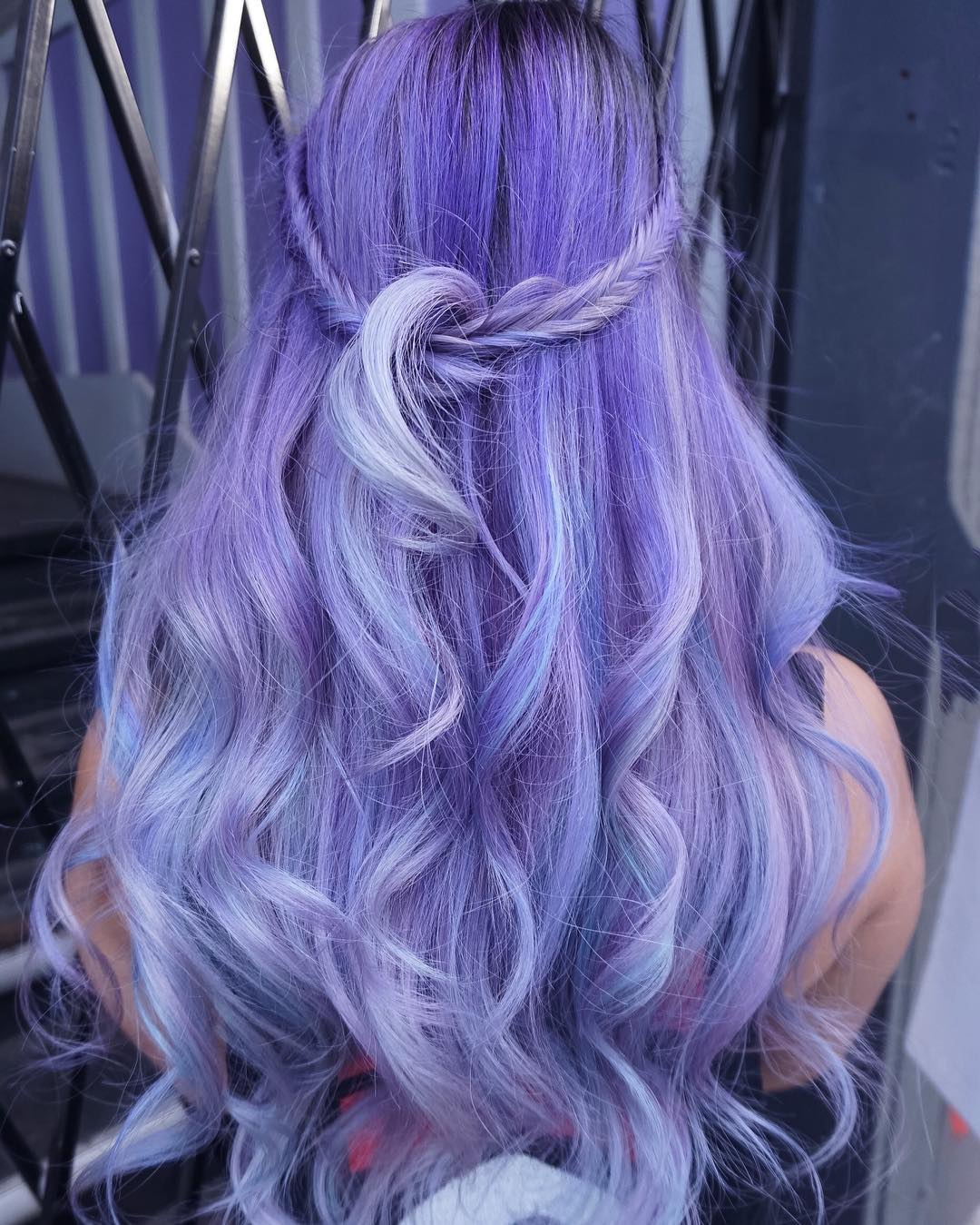 Long Pastel Purple Hairstyle