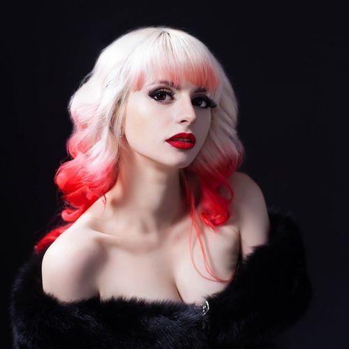 red dip dye for blonde hair