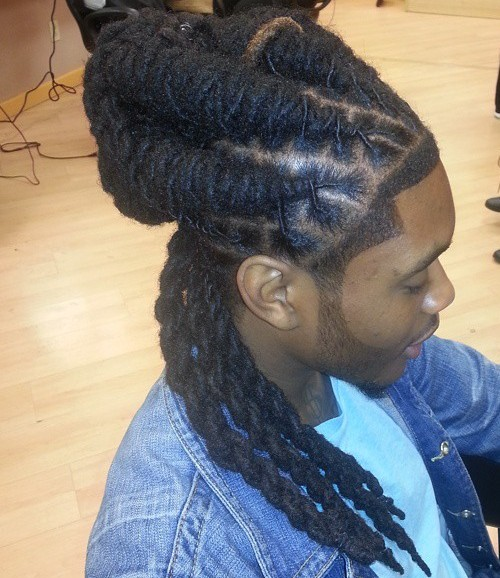 images 20 Terrific Long Hairstyles for Black Men